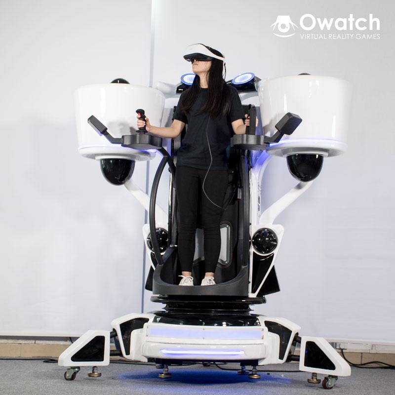 Standing-up 9D VR Flight Simulator 360 Rotating